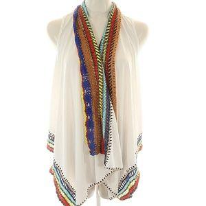 Double Zero S sleeveless cardigan knitted grandma'